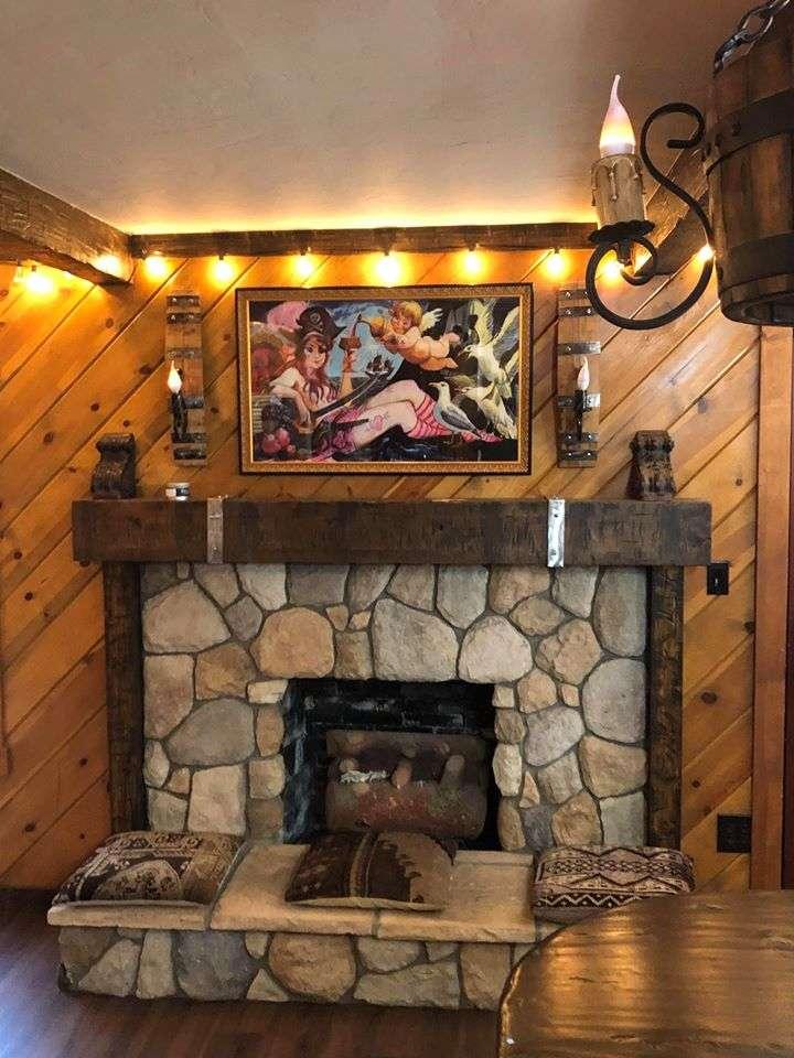 Lake Arowhead Tattoo fireplace