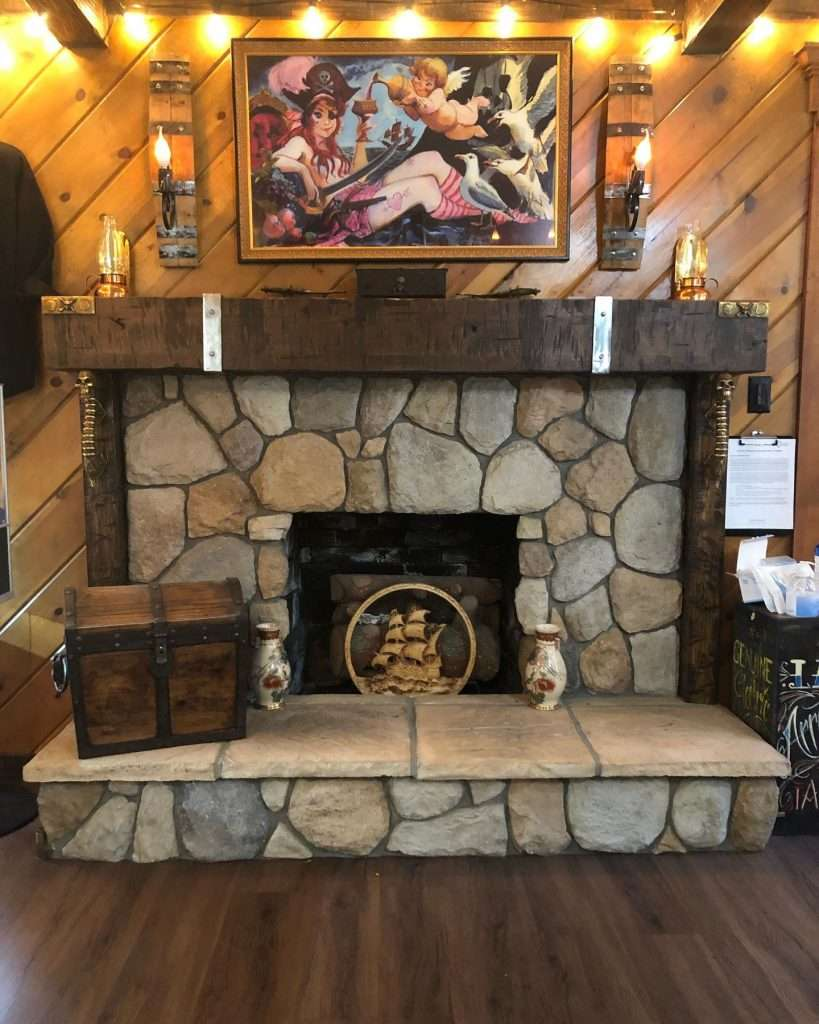 Lake Arrowhead Tattoo fireplace